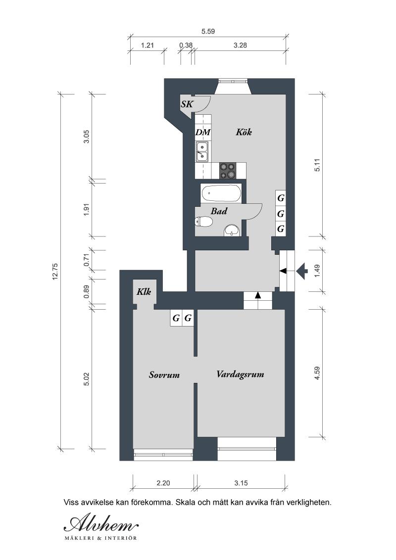 Квартира в Швеции. План
