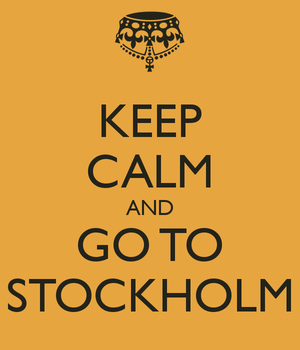 keep calm and go to stockholm