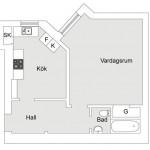 Квартира в Швеции, 41 кв.м.
